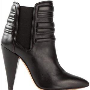 IRO Klara Black Leather Ankle Boots